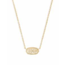 Kendra Scott Elisa Gold Pendant Necklace In Gold Filigree