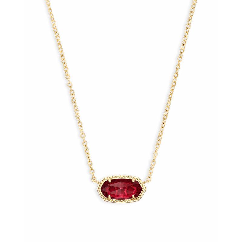 Kendra Scott Elisa Pendant Necklace In Berry