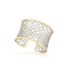 Southbank's Candice Gold Cuff Bracelet In Silver Filigree Mix