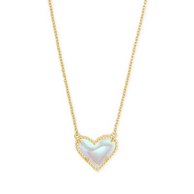 Kendra Scott Ari Heart Necklace Gold Dichroic*
