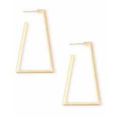 Kendra Scott Easton Hoop Earrings In Gold