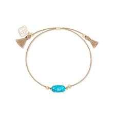 Kendra Scott Everlyne Friendship Bracelet Gold Veined Turquoise*