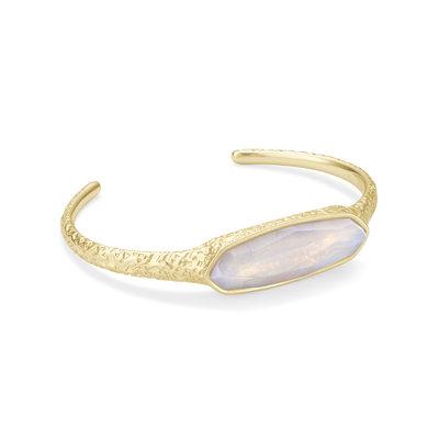 Kendra Scott Layla Cuff Gold Opalite Illusion