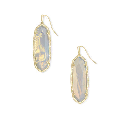 Layla Drop Earring Gold Opalite Illusion