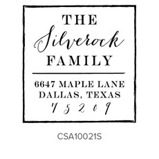 Three Designing Women Silverock Style Square - CSA10021S