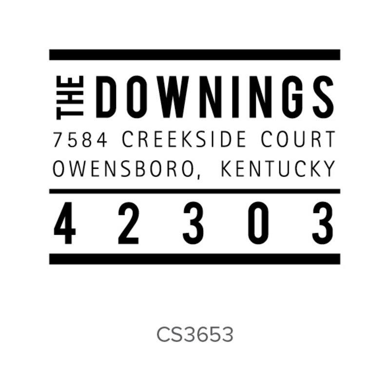 Three Designing Women Downings Style Rectangle - CS3653