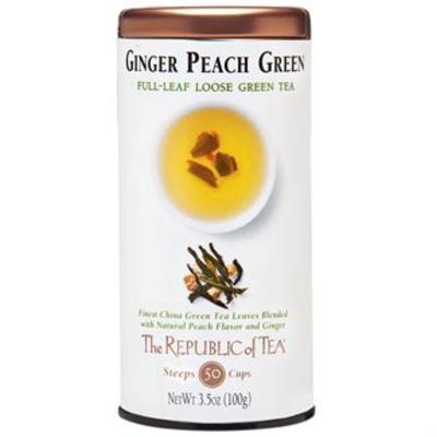 Ginger Peach Loose Green Tea