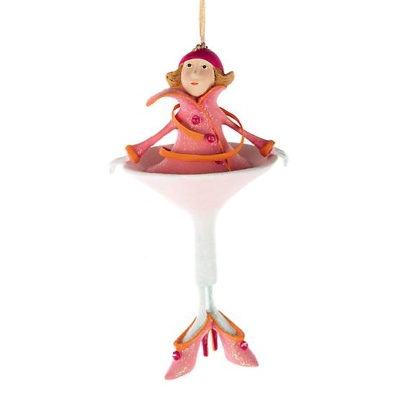 MacKenzie-Childs Patience Brewster Cosmopolitan Girl Ornament