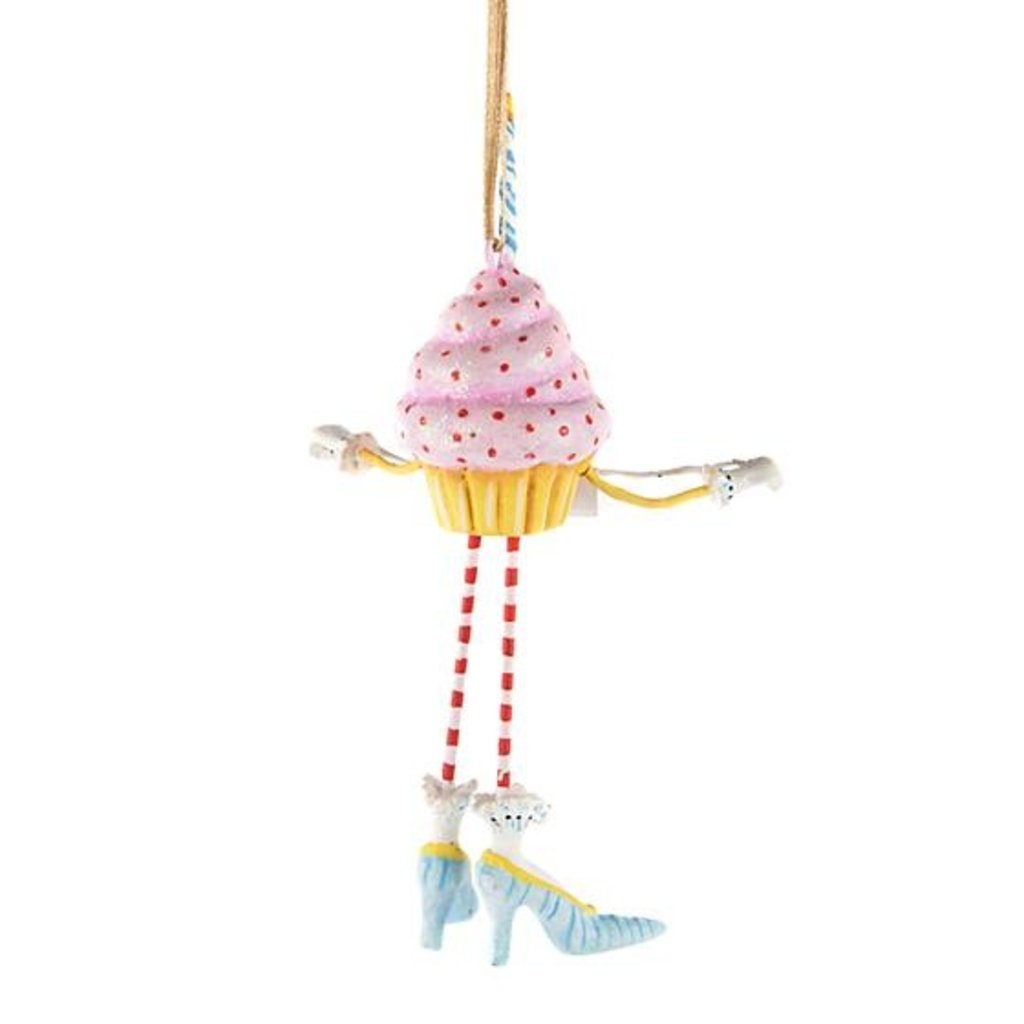 MacKenzie-Childs Patience Brewster Birthday Cupcake Mini Ornament