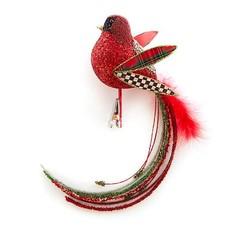 MacKenzie-Childs Happy Holidays Bird Clip