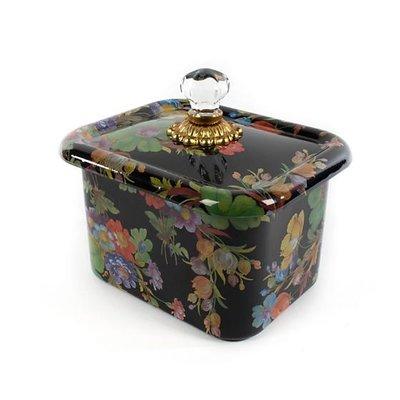 MacKenzie-Childs Flower Market Recipe Box - Black