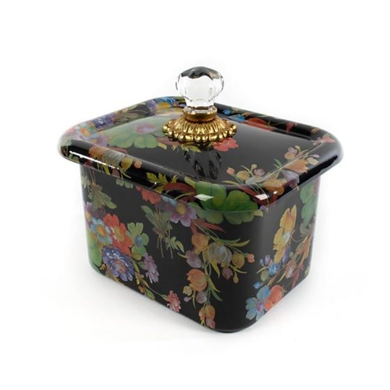 MacKenzie-Childs Flower Market Recipe Box - Black