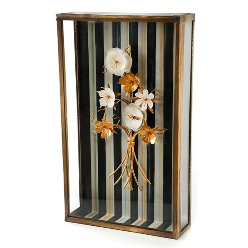 MacKenzie-Childs Golden Flower Shadow Box