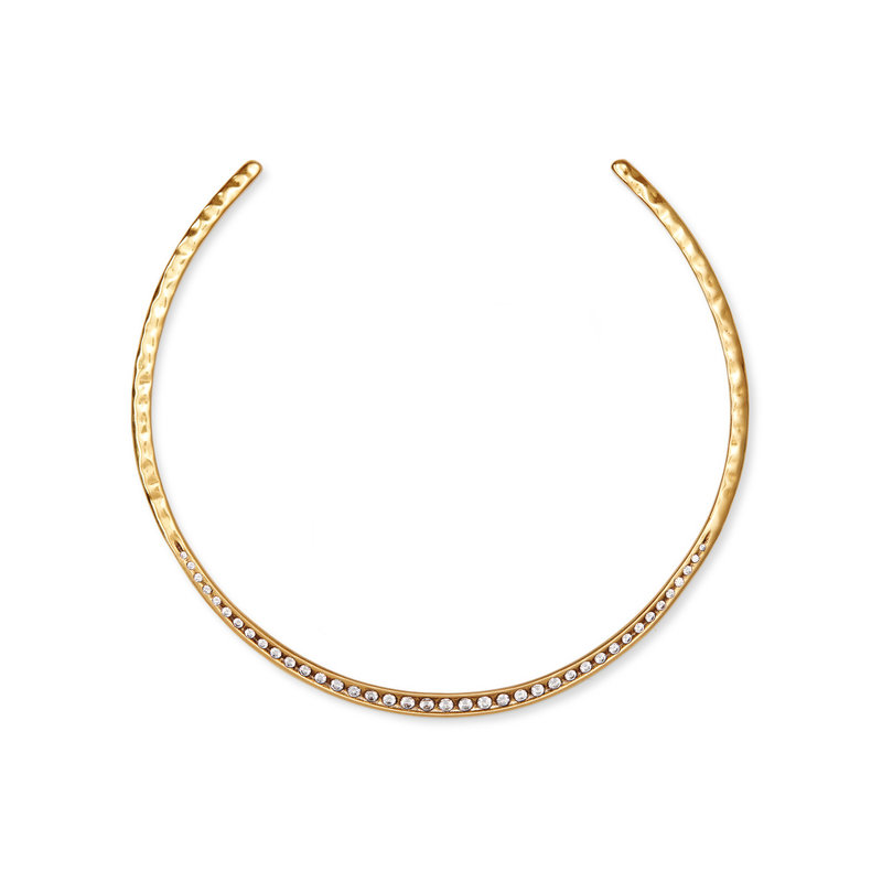 Selena Collar Necklace In Vintage Gold