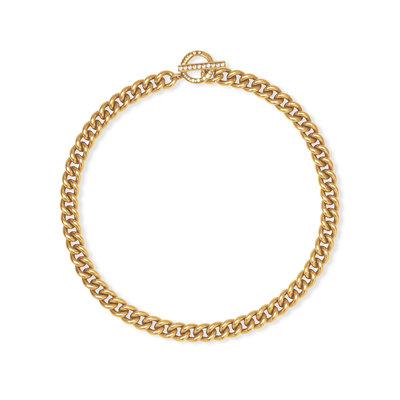 Whitley Chain Necklace In Vintage Gold
