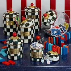 MacKenzie-Childs Courtly Check Enamel Canister - Mini