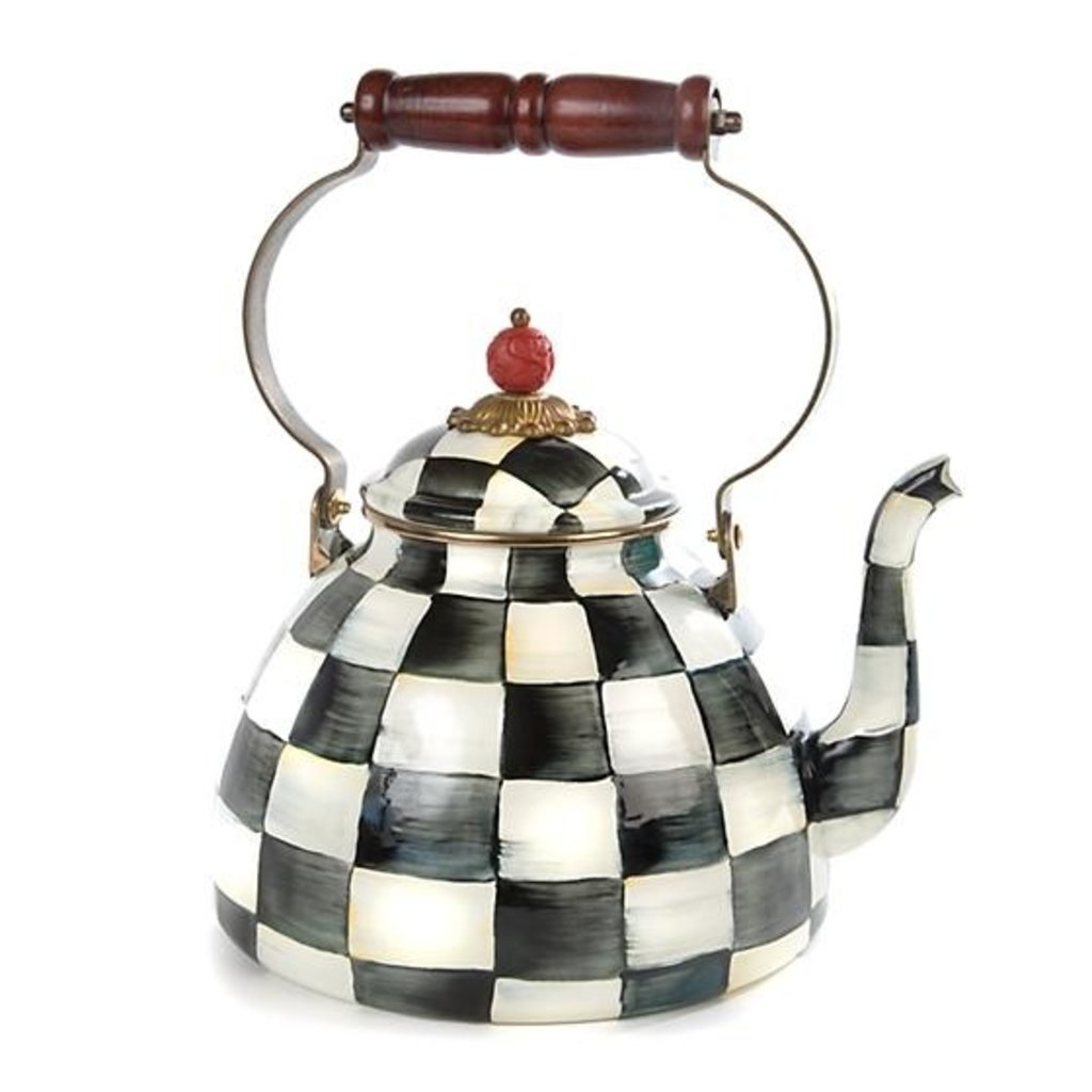 MacKenzie-Childs Courtly Check Enamel Tea Kettle - 3 Quart
