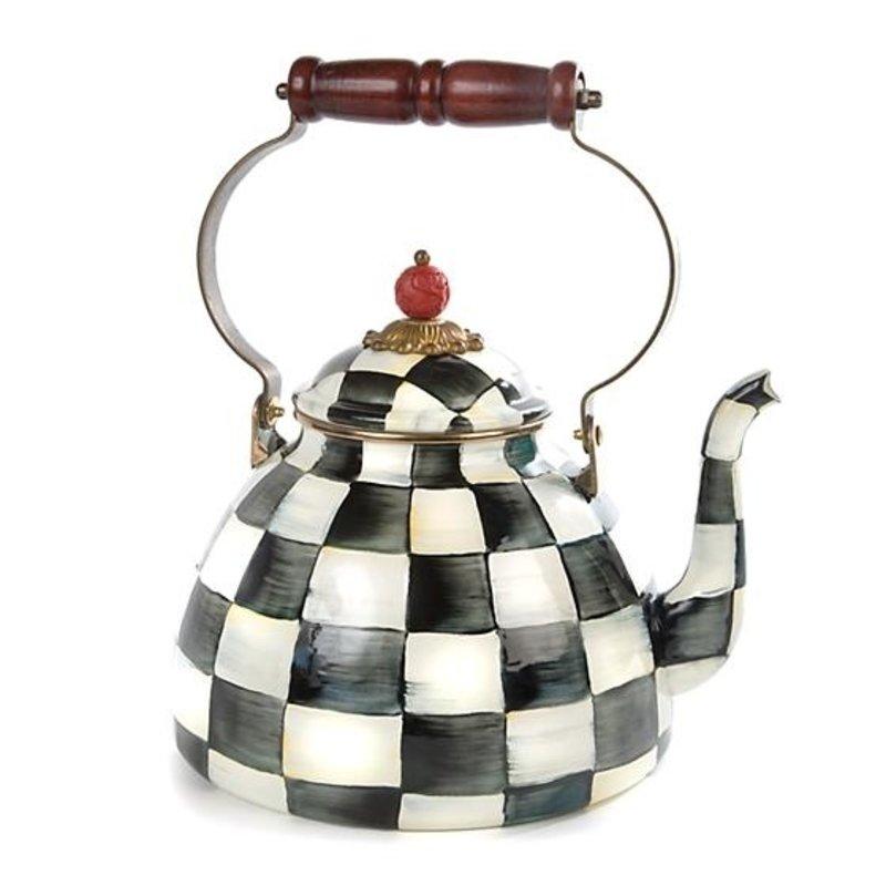 MacKenzie-Childs Courtly Check Enamel Tea Kettle - 3 Quart