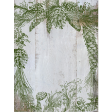 Iron Orchid Designs Evergreen Decor Stamp