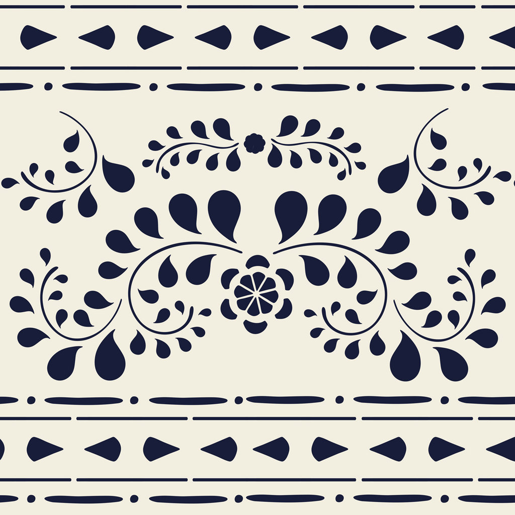 Faux Bone Inlay Stencil