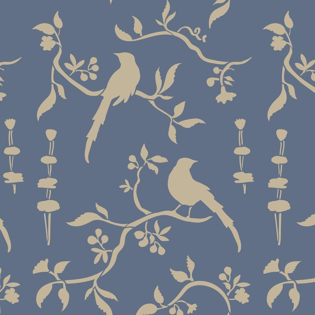 Chinoiserie Birds Stencil
