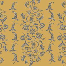 Paisley Floral Garland Stencil