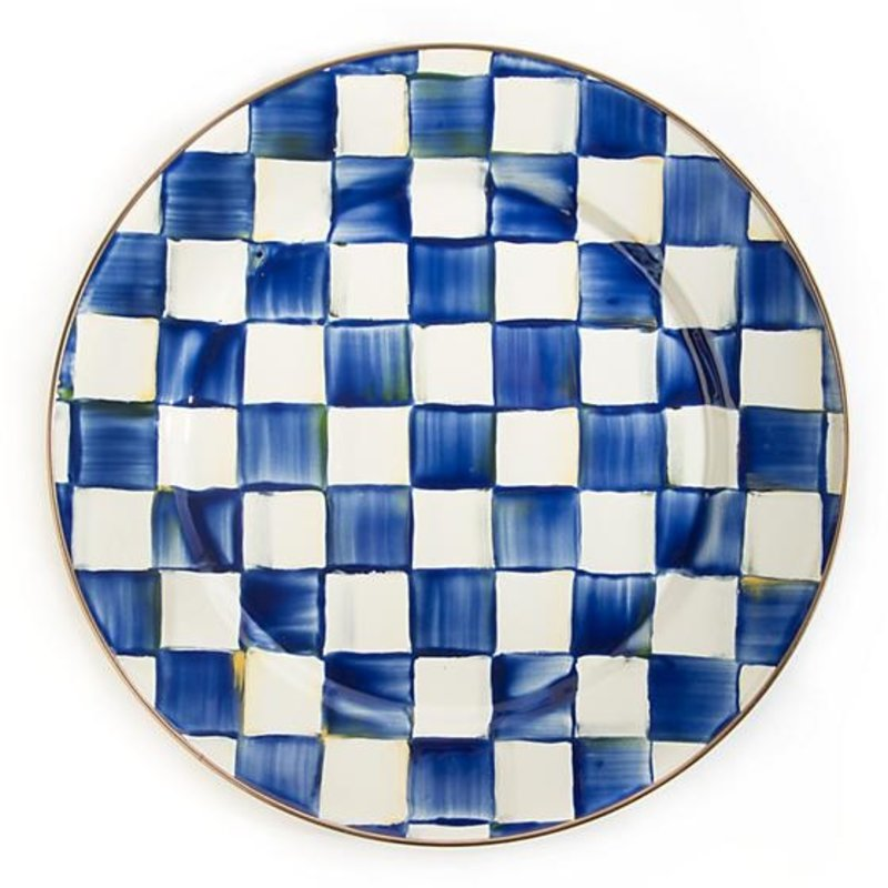 Royal Check Enamel Charger/Plate