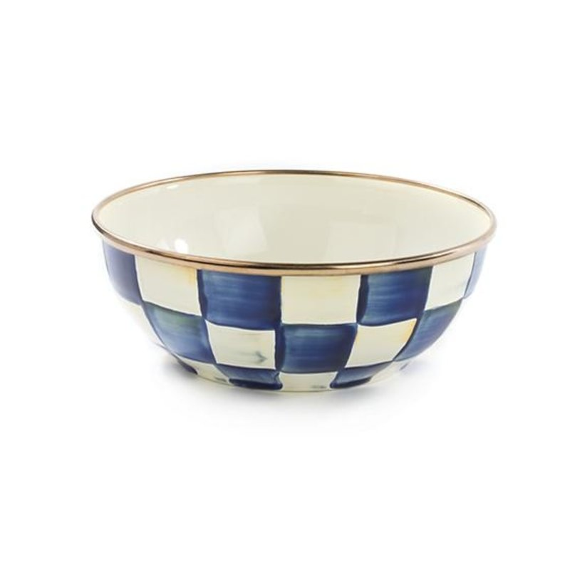 Royal Check Enamel Everyday Bowl