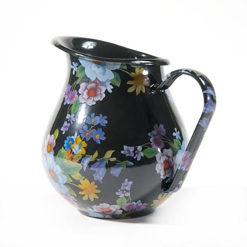 Flower Market Pitcher - Black