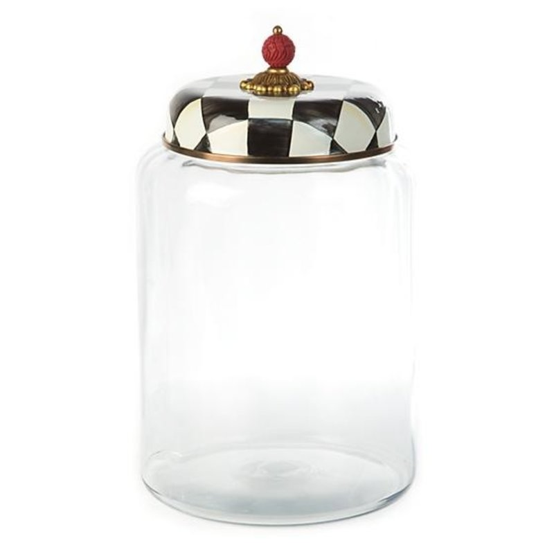 MacKenzie-Childs Courtly Check Storage Canister - Biggest