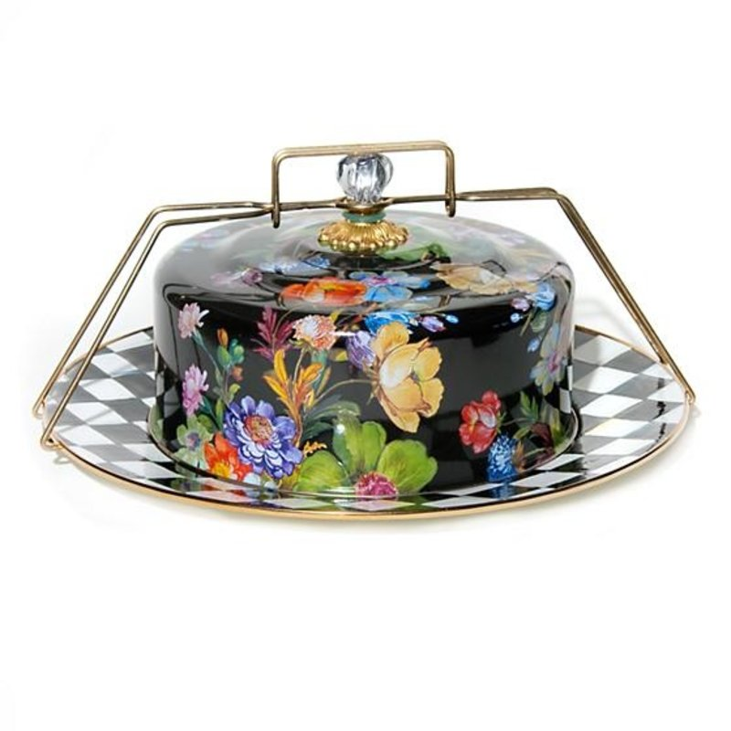 Flower Market Cake Carrier - Black