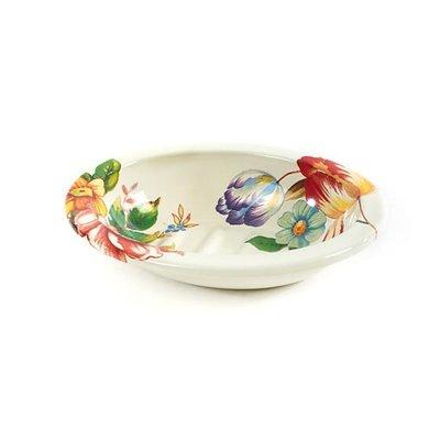 MacKenzie-Childs Flower Market Soap Dish - White