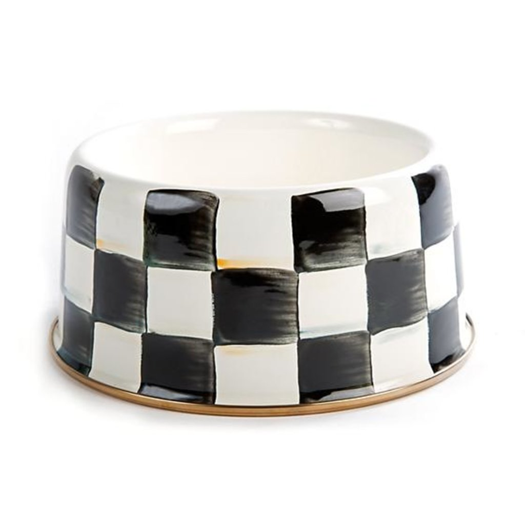 Courtly Check Pet Dish - Medium