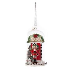 MacKenzie-Childs Happy Holidays Nutcracker Cloche Ornament