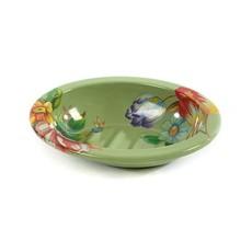 MacKenzie-Childs Flower Market Soap Dish - Green
