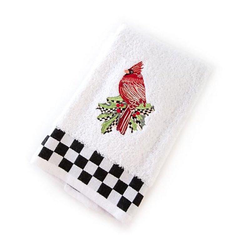 MacKenzie-Childs Fluffy Cardinal Hand Towel