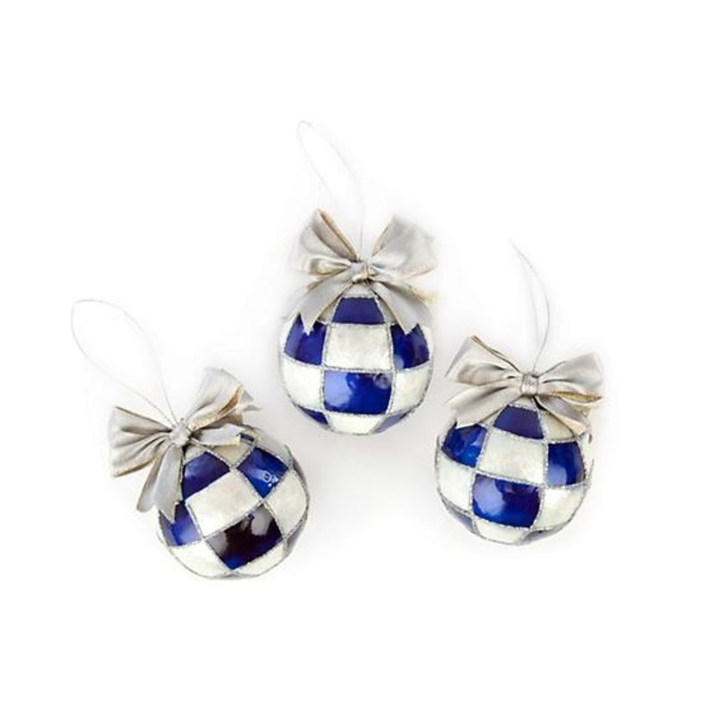 MacKenzie-Childs Individual Royal Glass Ornament Ball