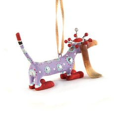MacKenzie-Childs Patience Brewster Chula Dachshund Mini Ornament