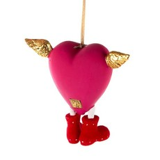 MacKenzie-Childs Patience Brewster Full Heart Ornament