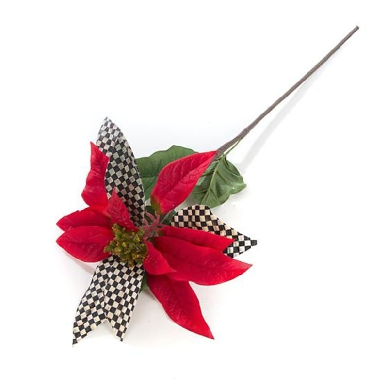 MacKenzie-Childs Courtly Check Poinsettia - Red