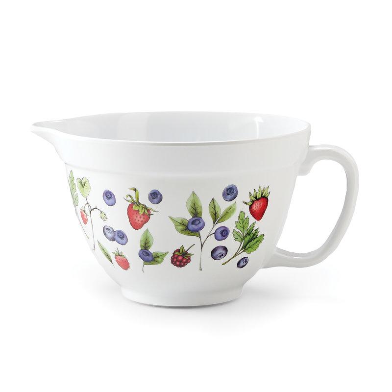 Berries Melamine Batter Bowl