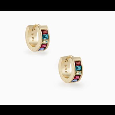 Kendra Scott Jack Gold Huggie Earrings In Multi Crystal