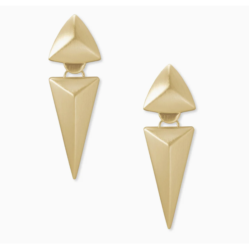 Kendra Scott Vivian Statement Earrings In Gold