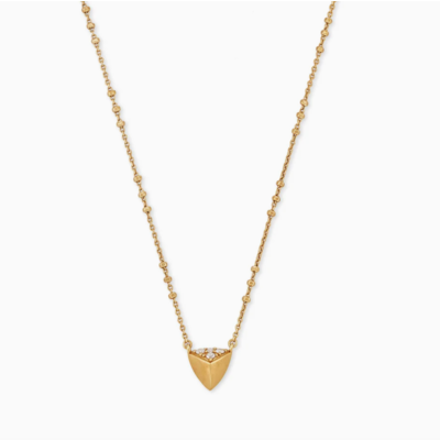 Perry Pendant Necklace In Vintage Gold