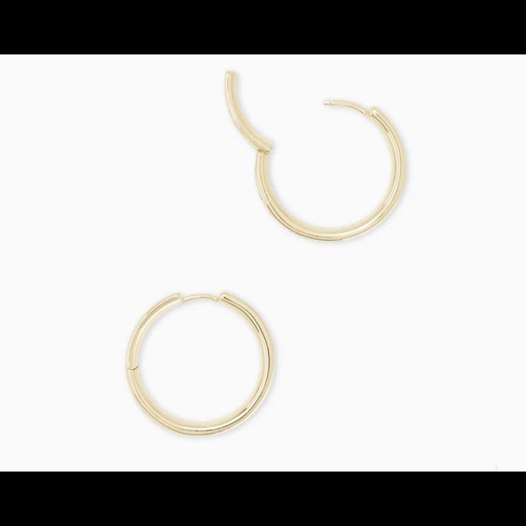 Kendra Scott Jack Gold Hoop Earrings In Multi Crystal
