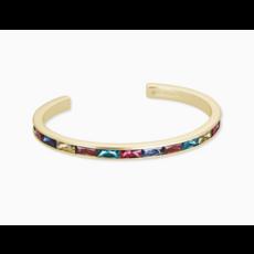 Kendra Scott Jack Gold Cuff Bracelet In Multi Crystal
