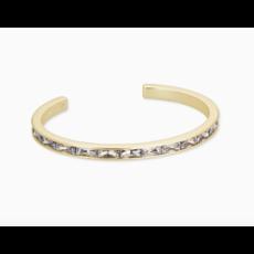 Kendra Scott Jack Gold Cuff Bracelet In White Crystal