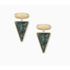 Kendra Scott Vivian Gold Drop Earrings In Green Apatite