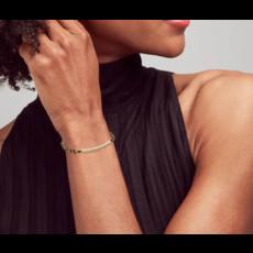 Kendra Scott Addison Vintage Gold Friendship Bracelet In Black Cord