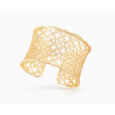 Candice Gold Cuff Bracelet In Gold Filigree Mix